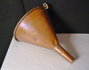 Vintage Copper Funnel Shabby with Dents Antique Farmhouse Cabin Kitchen Item