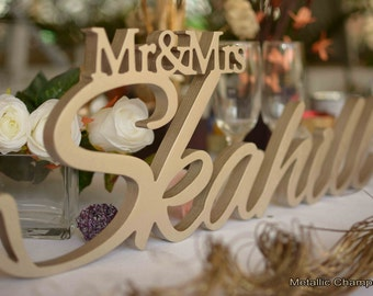 Wedding table Sign, Name Sign, Wedding head table Decoration, Wedding name sign, name sign wedding, custom signs, personalized signs