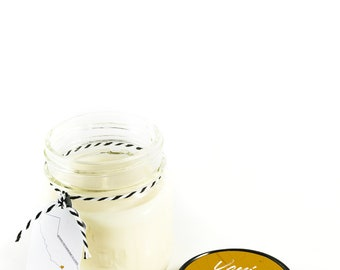 Venice || Scented Soy Candle || California || Patchouli || Woody || Powder || Amber || Handmade || Handpoured || Mason Jar