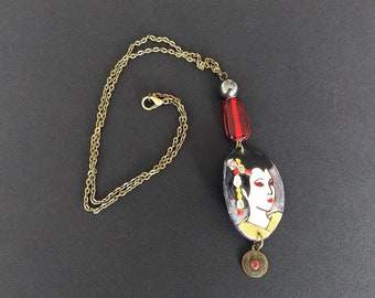 "Necklace ""Women of the world"" Geisha"