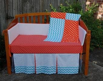 Carolina Sunrise Custom crib set - MADE TO ORDER