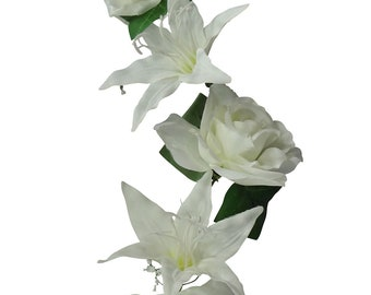 6' Cream Rose/Lily Garland (Pack of 4)