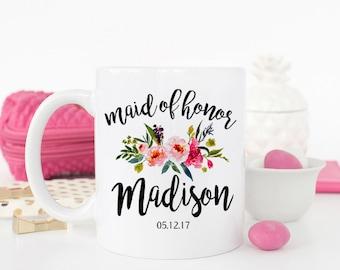 Custom Maid of Honor Mug, Maid of honor Gift, Bridal Party Gifts, Bridesmaid proposal, Maid of Honor mug, Gift for Maid of Honor, AAA_001