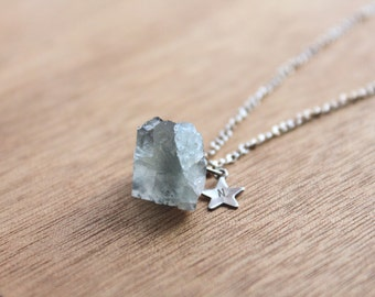 1 Chakra NECKLace GENUINE Crystal Natural RAW Aquamarine Necklace healing jewelry healing crystals