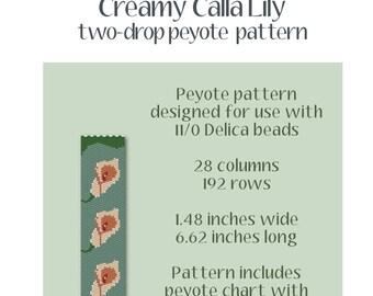 Creamy Calla Lily Peyote Pattern