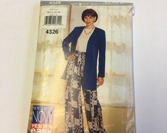 Ladies Jacket, Top and Pants Sewing Pattern
