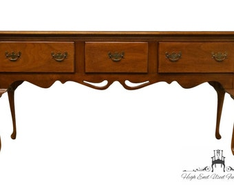 "1960's Antique Queen Anne Style Solid Ash 68"" Sideboard / Buffet"