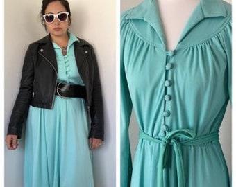50's/60s Vintage Aqua/Mint Dress, 50's Dress, 60s Dress, Sears Dress.