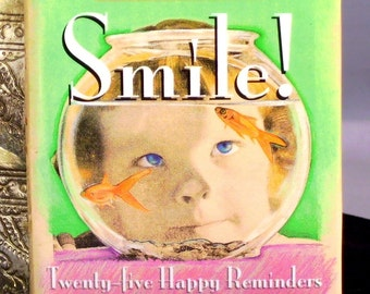 Vintage Pop Up Book Smile Twenty Five Happy Reminders 1995 Miniature Running Press  Edition Hardcover Dust Jacket Birthday Gifts
