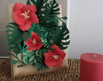 Exotic paper flower table