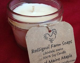 Sweet Maine Maple Soy Candle In 4oz Jelly Jar