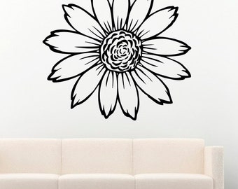Sunflower Flowers Vinyl Wall Decals Decors Removable Stickers Murals MK1396