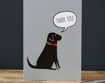 Thank You black labrador card