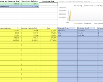 Business Expense Tracking Excel Spreadsheet Template - Automated