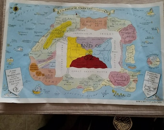 Land of Oz Map (1980 revised)