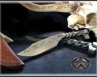 Hand Forged Rail Road Spike Knife