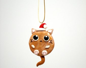 Orange Cat Ornament Pet Christmas Ornament Kitty Ornaments Tiger Cat Christmas Ornaments Cat Christmas Decoration Fat Cat Ornament