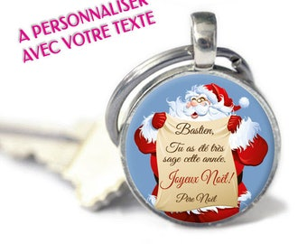 "Keychain - model ""Message the Santa - Christmas"" - text (Customize Keychain)"
