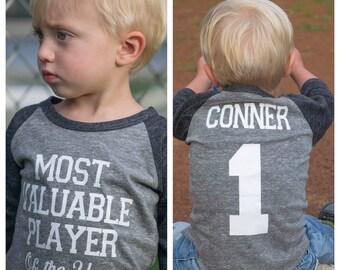 Baseball birthday shirt, boys birthday shirt, baseball birthday party, baseball party, 1st birthday shirt, first birthday shirt, MVP shirt