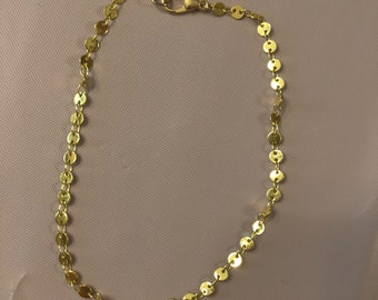 Gold Dot Anklet