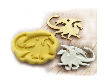 Dragon mold,  silicone mold ,  Western mold  -  craft mold - food mold - push mold - soap mold - - # 57