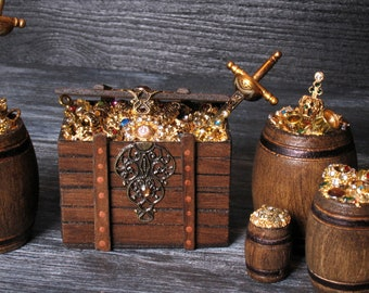 Miniature Treasure Chest for Your Dollhouse