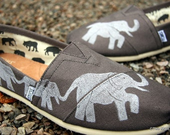 TOMS Shoes Elephant Custom Painted toms, Mom Gift, Wife Gift, Girlfriend gift
