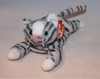 Prance The Gray Tabby Cat Ty Beanie Baby Retired