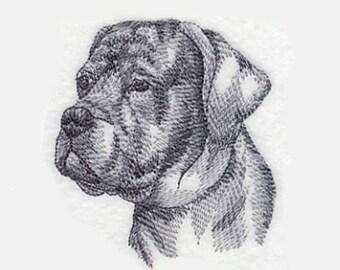 Cane Corso Tea Towel | Dog Lover Gift | Personalized Kitchen | Embroidered Towel | Embroidered Kitchen Towel | Dog Tea Towel | Hand Towel