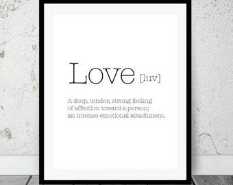 Love Digital Print, Valentine Wall Art, Gift, Minimalism, Printable Decor, Quote, Printable Art, Instant download