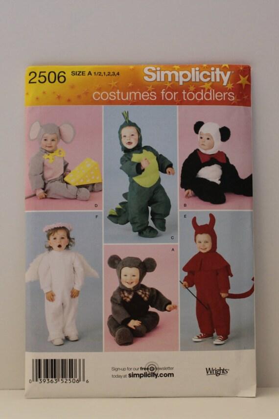Halloween Costume Pattern, Mouse, Dinosaur, Panda, Angel, Devil ...
