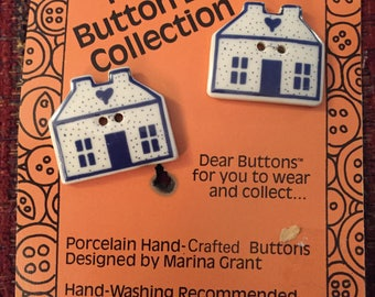 Button in house shape