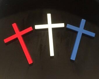 USA Red White & Blue Crosses