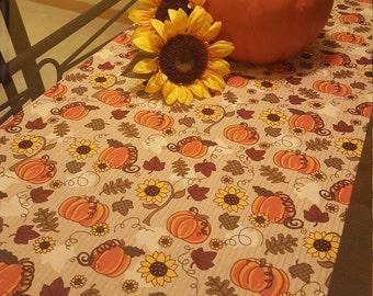Fall Table Runner,  Harvest Table Runner,  Autumn Table Runner,  Thanksgiving Table Runner