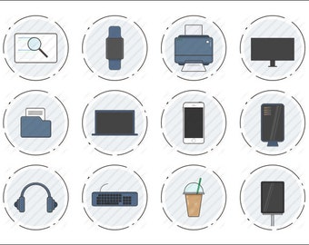 Computer Utilities Icon Set