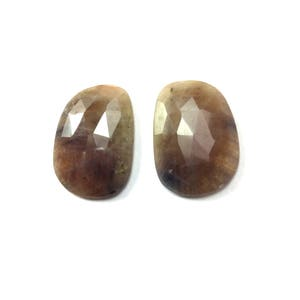 Wonder sapphire faceted gemstone 15x22mm