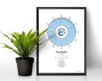 Natal chart, Astrology gift, Planets and houses, Personalized Horoscope, Birth chart, Natal Astrology, Custom gift, Horoscope, Zodiac sign