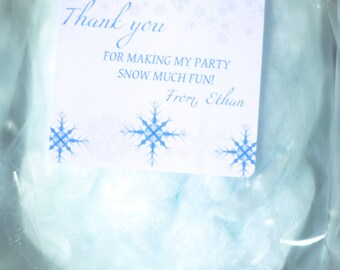 50 Packages of Cotton Candy with Labels