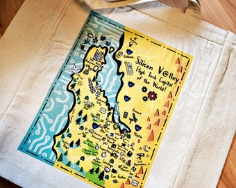 Silicon Valley Map Tote