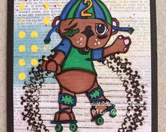 2137 Bearly Roller Derby Digi Stamp