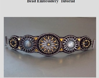 Tutorial , Pattern, Bead embroidery ,Beading pattern , Instructions only, Steel bracelet