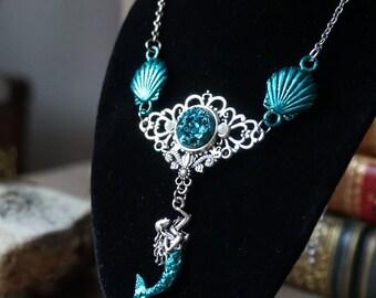 "Necklace ""Turquoise Mermaid"""