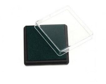 Ink stamp dark green square