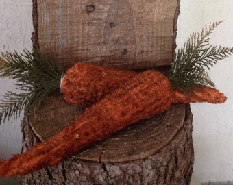 Chenille Carrots | Easter Decor | Rustic Spring Decor