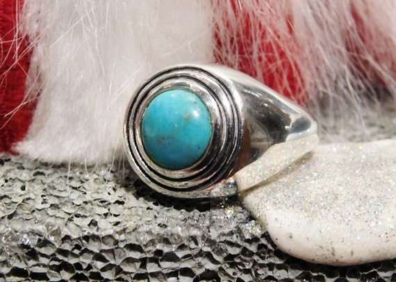 Barse Turquoise Ring / Sterling Silver Ring