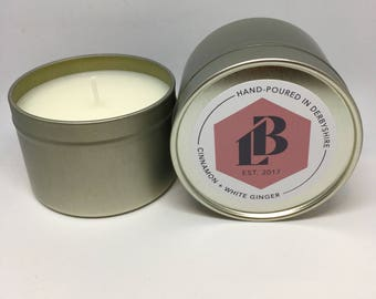 Cinnamon & White Ginger Soy Wax Candle