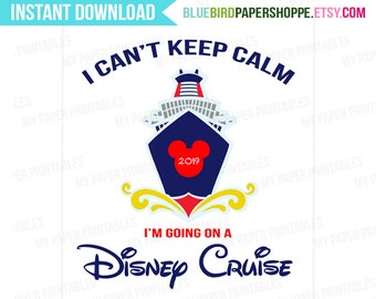 2019 Disney Cruise Mickey Mouse INSTANT DOWNLOAD Printable Iron On Transfer or Use as Clip Art or DIY T-Shirt Transfer Vacation Disney Shirt