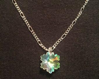 Petite Crystal Snowflake necklace