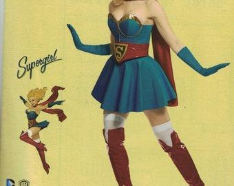 Simplicity 0112 / 8185 Costume Pattern DC Bombshells Supergirl Costume Size 6,8,10,12,14 UNCUT