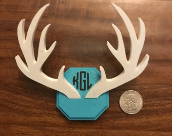 Monogrammed Antlers 3D Print for Baby's Room (Small)